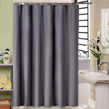 "Extra Long Shower Curtain Dark Gray 72""x84"" Waterproof Fabric Solid Color Hotel"