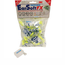 Oxford Ear Soft FX Motorcycle Ear Plugs 50 Pack SNR39 Noise Reduction Cancelling