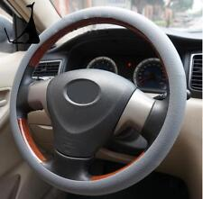 Universal Gray Car Silicone Steering Wheel Cover Protect Shell Leather Texture