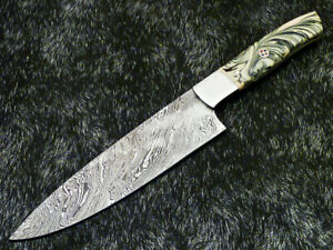 """12"""" Kitchen Chef Knife """"Handcrafted Damascus Steel Blade"""" Multi Purpose WD-9954"""
