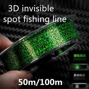 100m 3D Invisible Fishing Line 0.12-0.50mm Fluorocarbon Line Super Strong