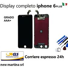 DISPLAY completo x IPHONE 6 PLUS nero High Quality LCD + TOUCH SCREEN + FRAME
