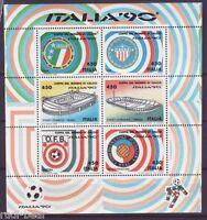 Italien Block   3 ** Fussball WM   Übergröße 121x128 mm statt 114x128        -1-