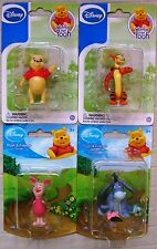 Disney's Winnie the Pooh Figurines Lot of 4 Carded Figurines - New