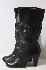 CHIE MIHARA SHOES CUNSI BOOTS BLACK LEATHER $625 9