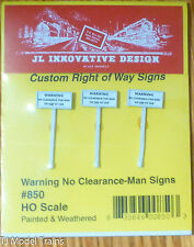 JL Innovative Design #850 Right of Way Signs -- No Clearance Man on Top of Car
