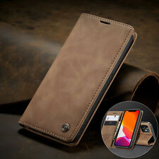 Matte Leather Magnetic Flip Wallet Phone Case Cover For iPhone 12 Pro Max 6 7 8+