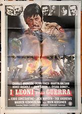 manifesto 2F film I LEONI DELLA GUERRA - RAID ON ENTEBBE Charles Bronson 1977