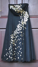 COAST Black Net Strappy/Strapless Dress UK 8 with Unusual Sequins BNWT