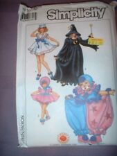 SIMPLICITY PATTERN 8834 ~ CHILD SAILOR DOLL WITCH CLOWN COSTUME  SZ 10-12 ~ NEW