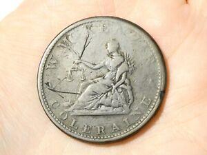 1813 W. McKENZIE COLERAINE Ireland  One Penny Token Condor #TT125