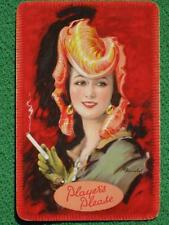 Art Deco Flapper w/ Hat Pinup Swap Card by Barribal Advertising Player's Tobacco