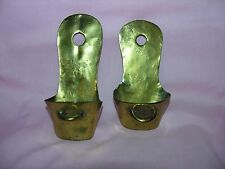 Vintage Brass Wall Pocket Planter solid metal Hanging decor flowers