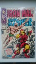 HIGH GRADE Marvel IRON MAN AND SUB-MARINER #1 1968 SILVER AGE COMIC FN
