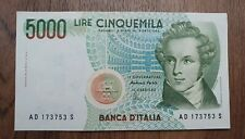 1985 Italy 5000 Lire Banknote  AD173753S