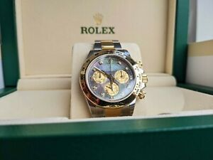 BRAND NEW ROLEX COSMOGRAPH DAYTONA WITH A BLACK MOTHER-OF-PEARL DIAMOND-SET DIAL