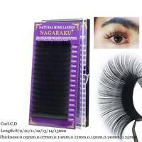 Natural Long Lash Grafting Extension C/D Curl Individual Lashes False Eyelashes