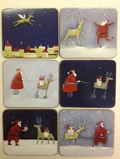 'Christmas Collage' Cinnamon Cork Backed Coasters - Set of 6 *NEW*