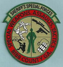 BIBB COUNTY GEORGIA SHERIFF SWAT TEAM PATCH