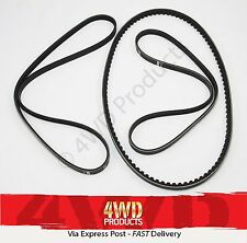 Fan/Drive Belt SET - for Nissan Patrol GU (Y61) 4.8P TB48E (01-11)
