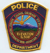 CALHAN COLORADO CO Highest Incorporated Non-Mountain Town In The US POLICE PATCH