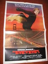 An EYE FOR AN EYE original MOVIE POSTER >1981 Chuck Norris karate