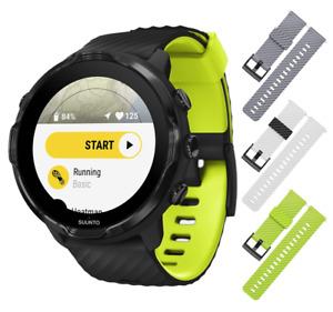 SUUNTO 7 Graphite GPS Smartwatch Black Lime with 3x Strap Gray+White/Black+Lime