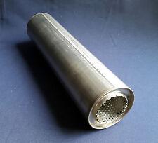 "63 mm de diámetro (2 ½ "") de 4 pulgadas ronda x 20"" de largo Universal De Acero Inoxidable De Escape Silenciador"