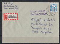 BRD, Einschreiben MiNr. 1142 EF TSt Eckernförde 30.01.1987