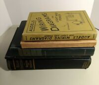 5 Vintage Educational School Electrician Engineer Textbooks 1930s & 1950s Used