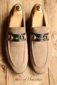 Gucci Brown Leather Suede Shoes Bit Loafers Men's UK 6.5 EU 40.5 US 7.5