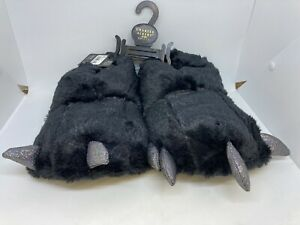 NWT Charles Albert Ladies 3D Claw Slippers Black Size S/M 5 - 7.5