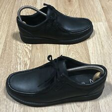 Clarks Mendip Craft Youth Boys Black Leather Shoes Size UK 5.5G School Eur39