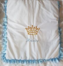 pram quilt handmade prince and crown    Romany gypsy