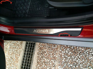 For Hyundai Kona Auto Accessories 2017 2020 Steel Car Door Sill Protector Plates