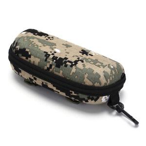 tactical zipper sunglasses box case shell hard eye glasses protective pouch ZC