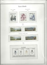Palo Hingeless Faroe Islands 2018 Premium Pages (4) Clear Mounts Color Illust.