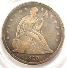 1840 Seated Liberty Silver Dollar $1 - ANACS VF25 Details - Rare Certified Coin!