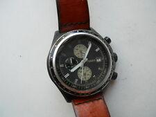 Fossil men's chronograph brown leather band Analog quartz & batt watch.Ch-2729