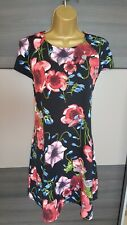 River Island black floral pattern poopy A line dress tunic short sleeved BNWT