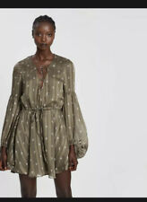 Shona Joy Reed Balloon Sleeve Mini Dress Sz 8
