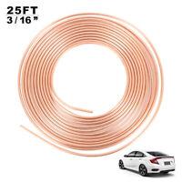 """Copper 3/16"""" 25ft Brake Line Pipe For Car Oil gauge lines/fuel lines/brake lines"""