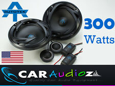 "Autotek 6.5"" 17cm 2 way Component car audio door shelf speakers pair 300W"