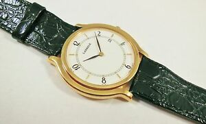 Lassale by Seiko Gold Tone Metal 7N29-7140 Leather Sample Watch NON-WORKING