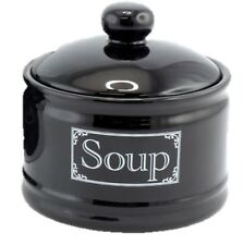 Leonardo Collections Large Lidded Soup Bowl 500ml BLACK
