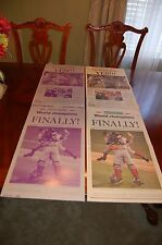 Boston Globe 2004 Red Sox Victory Edition Printing Plates & Paper, Oct 28 2004