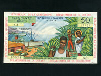 French Antilles:P-9a,50 Francs,1964 * Guadeloupe/Guyane/Martinique * EF+ *