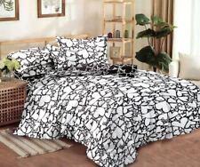 4 tlg.Bettwäsche Bettbezug Bettgarnitur 155 x 200 Motiv Herzen Schwarz Weiß
