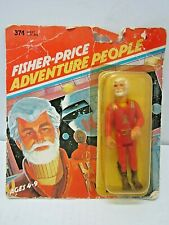 VINTAGE 1979 FISHER-PRICE ADVENTURE PEOPLE SPACE COMMANDER ON CARD 1970'S TOY