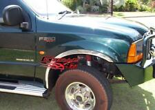 1999-2007 Ford F-250 Super Duty - 304 Stainless Steel Fender Trims